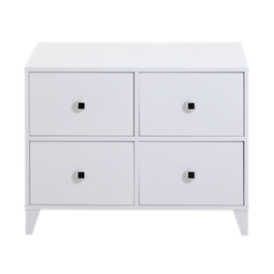 FLY-commode 4 tiroirs blanc