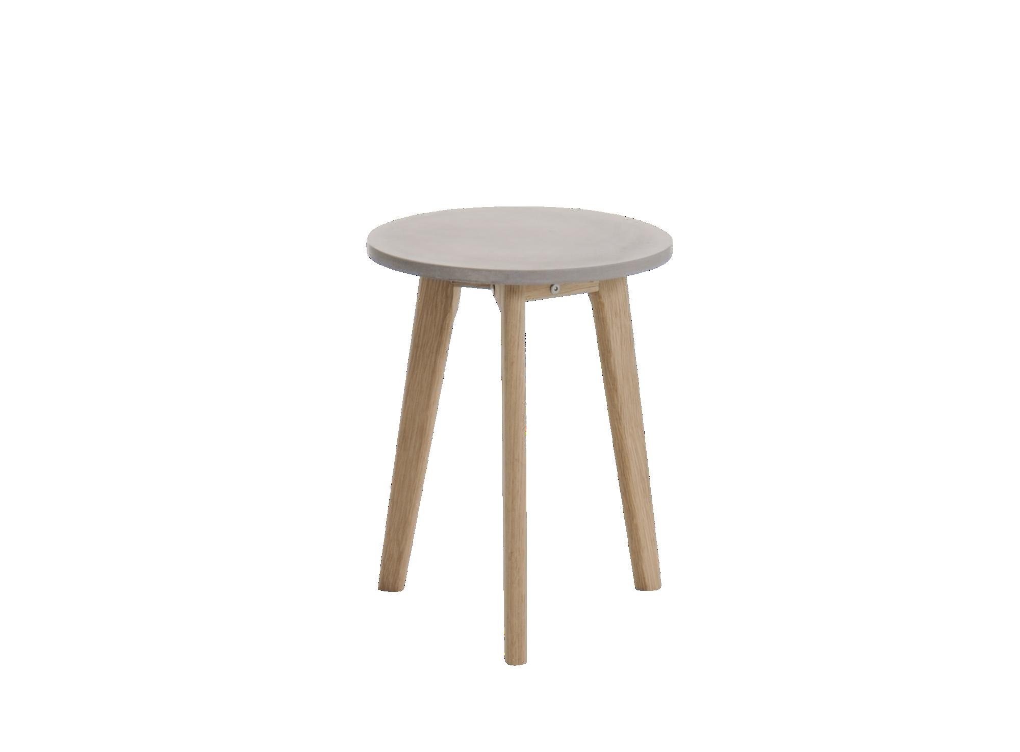 Table chene et beton structure et pietement en chene finition vernis ...