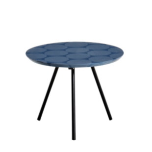 FLY-table basse ronde bleu