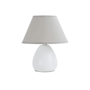 FLY-lampe h24cm blanc/gris