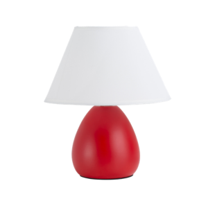 FLY-lampe h24cm rouge/blanc