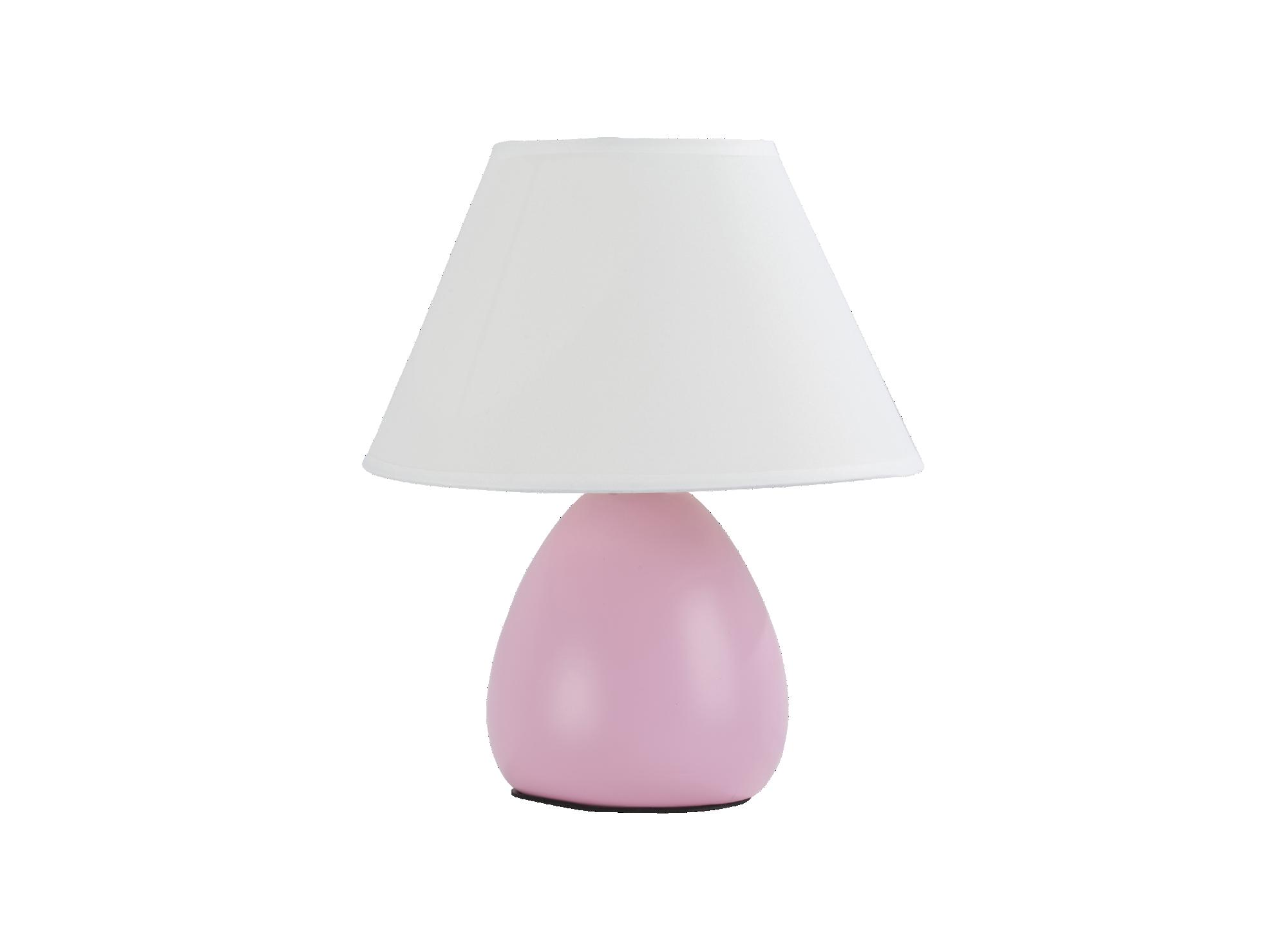 Lampe h24cm abat jour 100% coton coloris blanc. pied en ceramique col ...