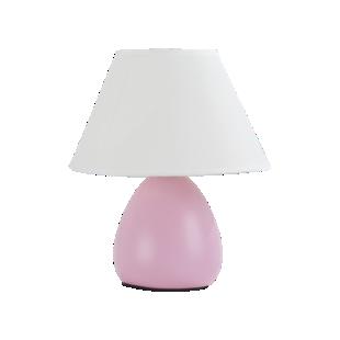 FLY-lampe h24cm rose/blanc
