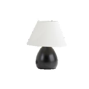 FLY-lampe h24cm noir/blanc