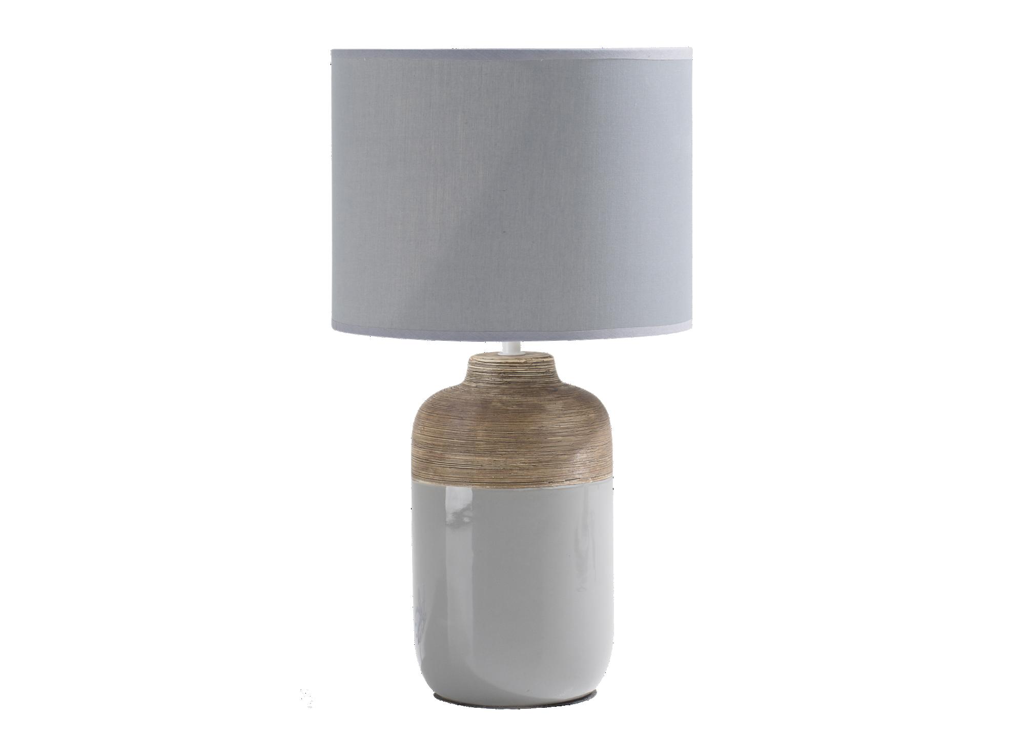 Lampe h47cm - abat jour dimensions 26x26x20cm, 100 % coton coloris gr ...