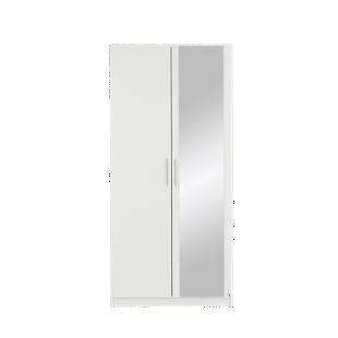 FLY-armoire 2 portes battantes blanc