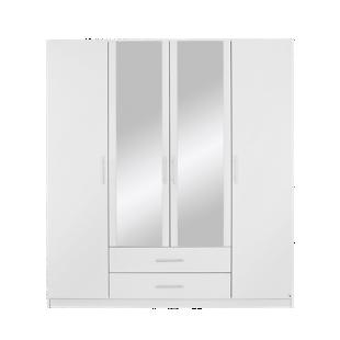FLY-armoire 4 portes / 2 tiroirs blanc