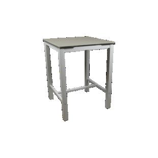 FLY-table haute avec allonge blanc/verre gris
