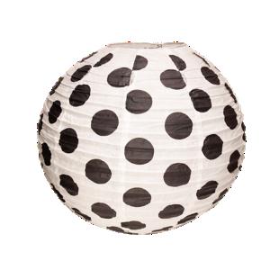 FLY-boule japon pois d60cm blanc et noir