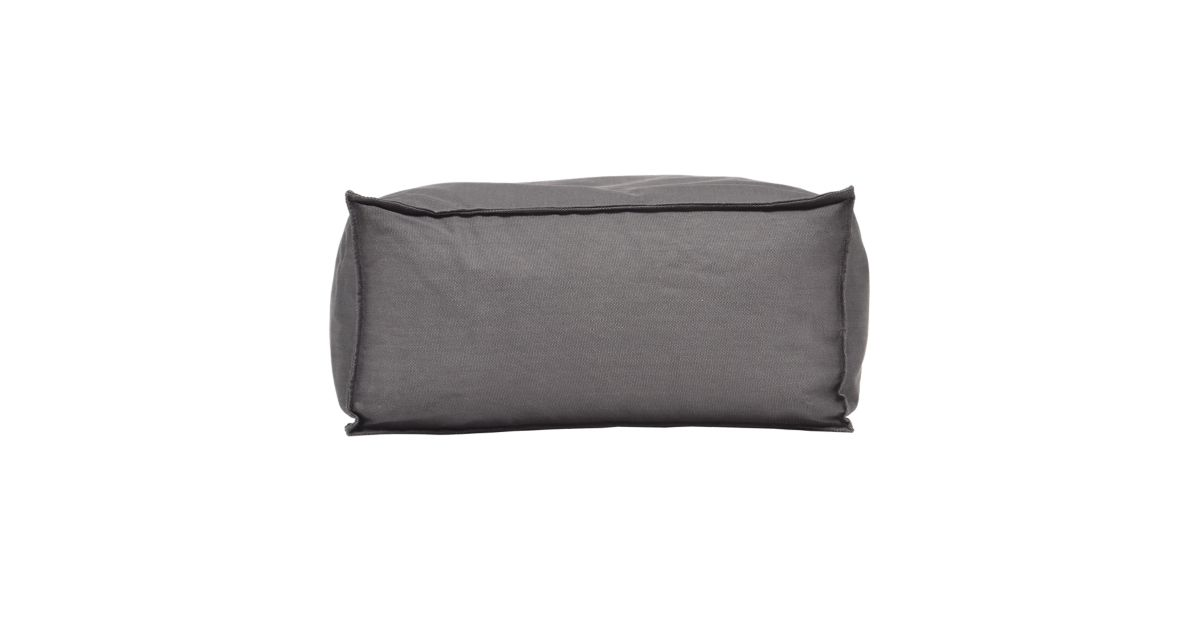 Pouf rectangle canvas gris anthracite fly - Pouf gris anthracite ...
