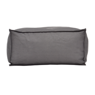 FLY-pouf rectangle canvas gris anthracite