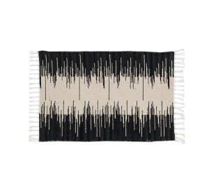 FLY-tapis coton 120x160 noir/naturel