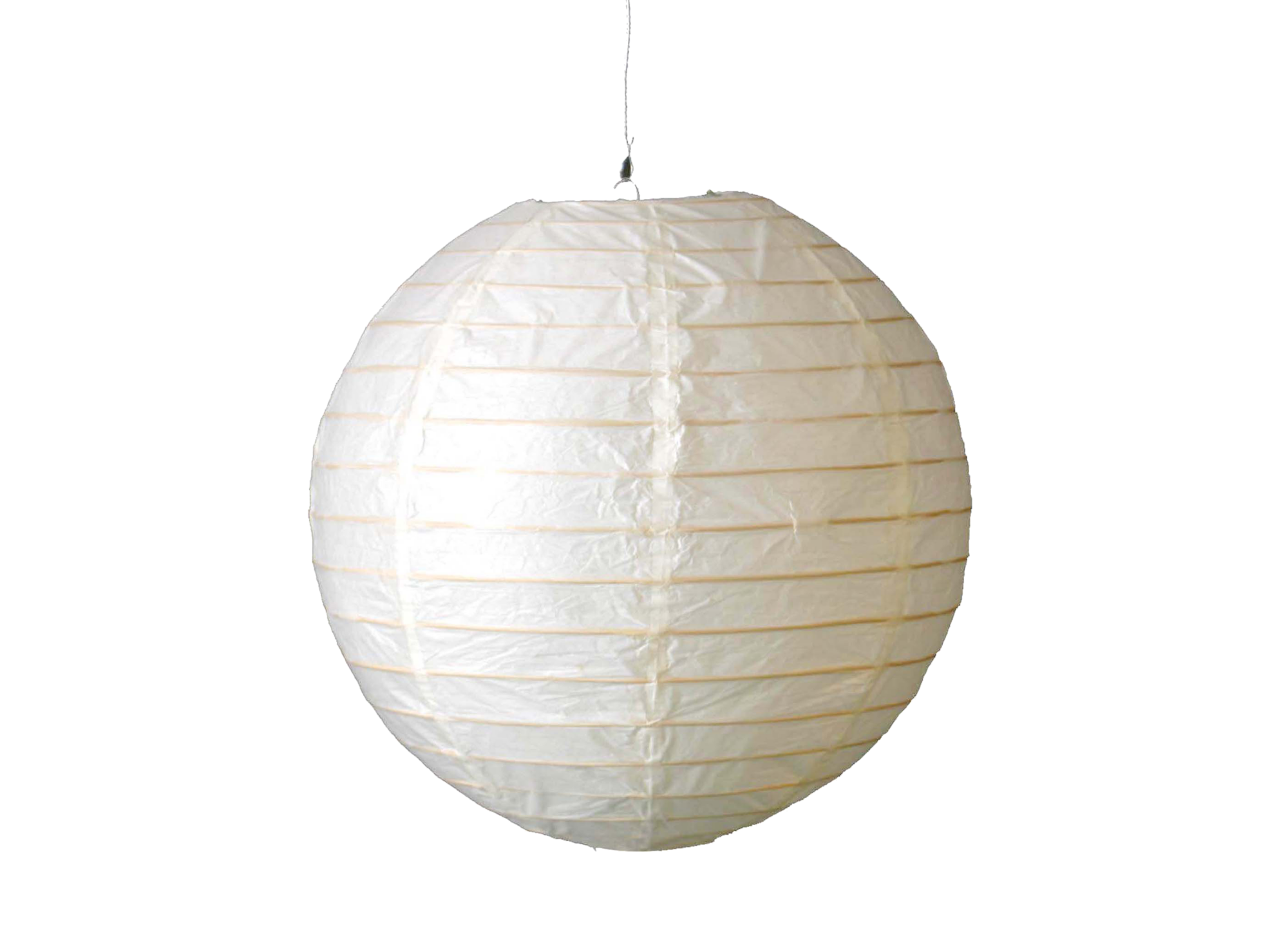 Boule japon d30cm blanc suspension cat gories for Luminaire suspension boule