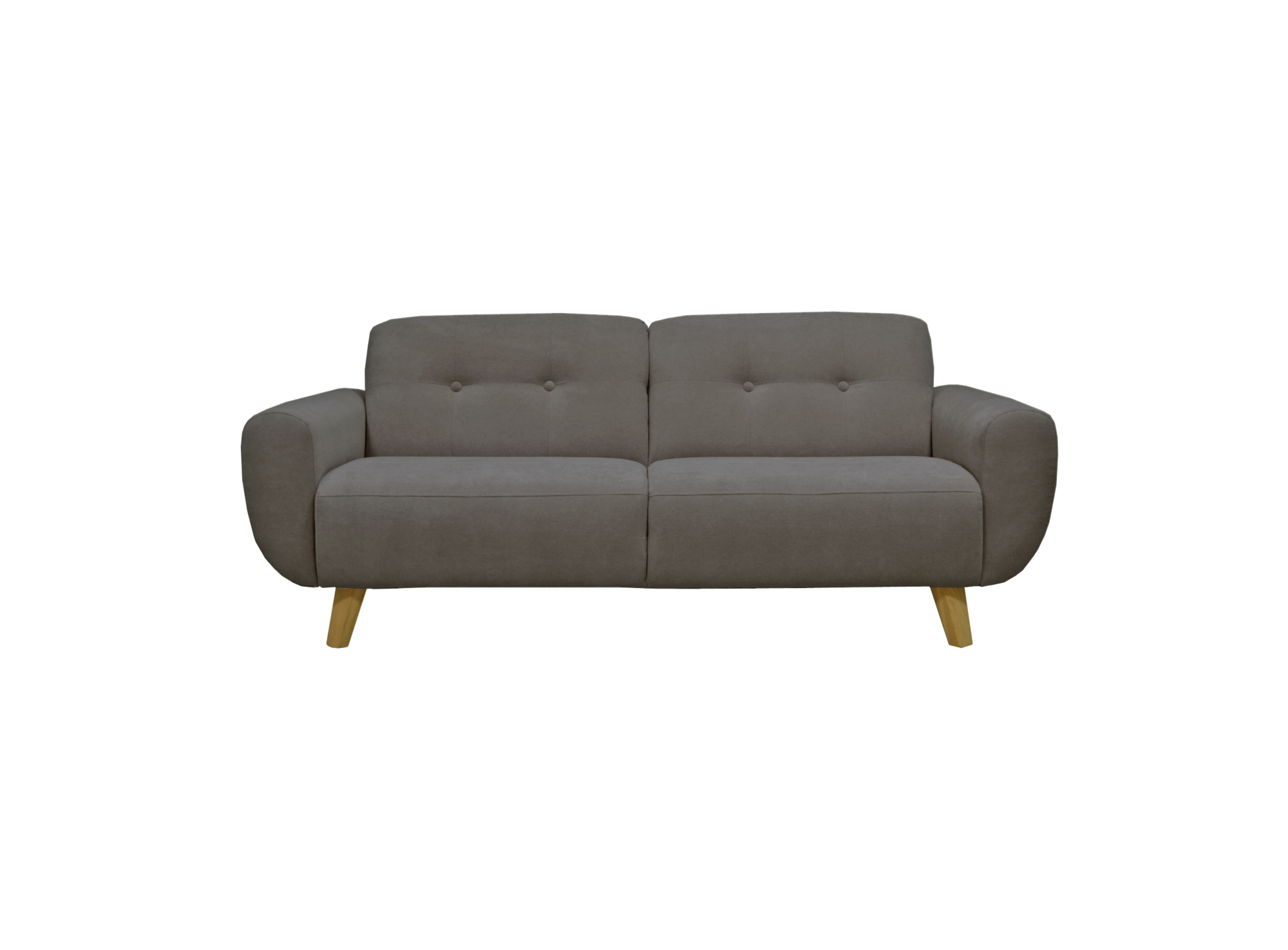 Canape fixe 3 places tissu gris fonce fly for Canape 7 places tissu