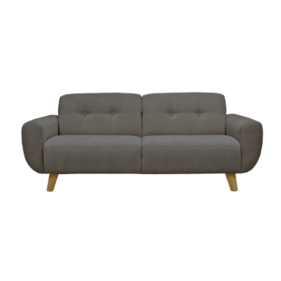 FLY-canape fixe 3 places tissu gris fonce