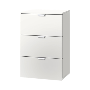FLY-chevet blanc 3 tiroirs
