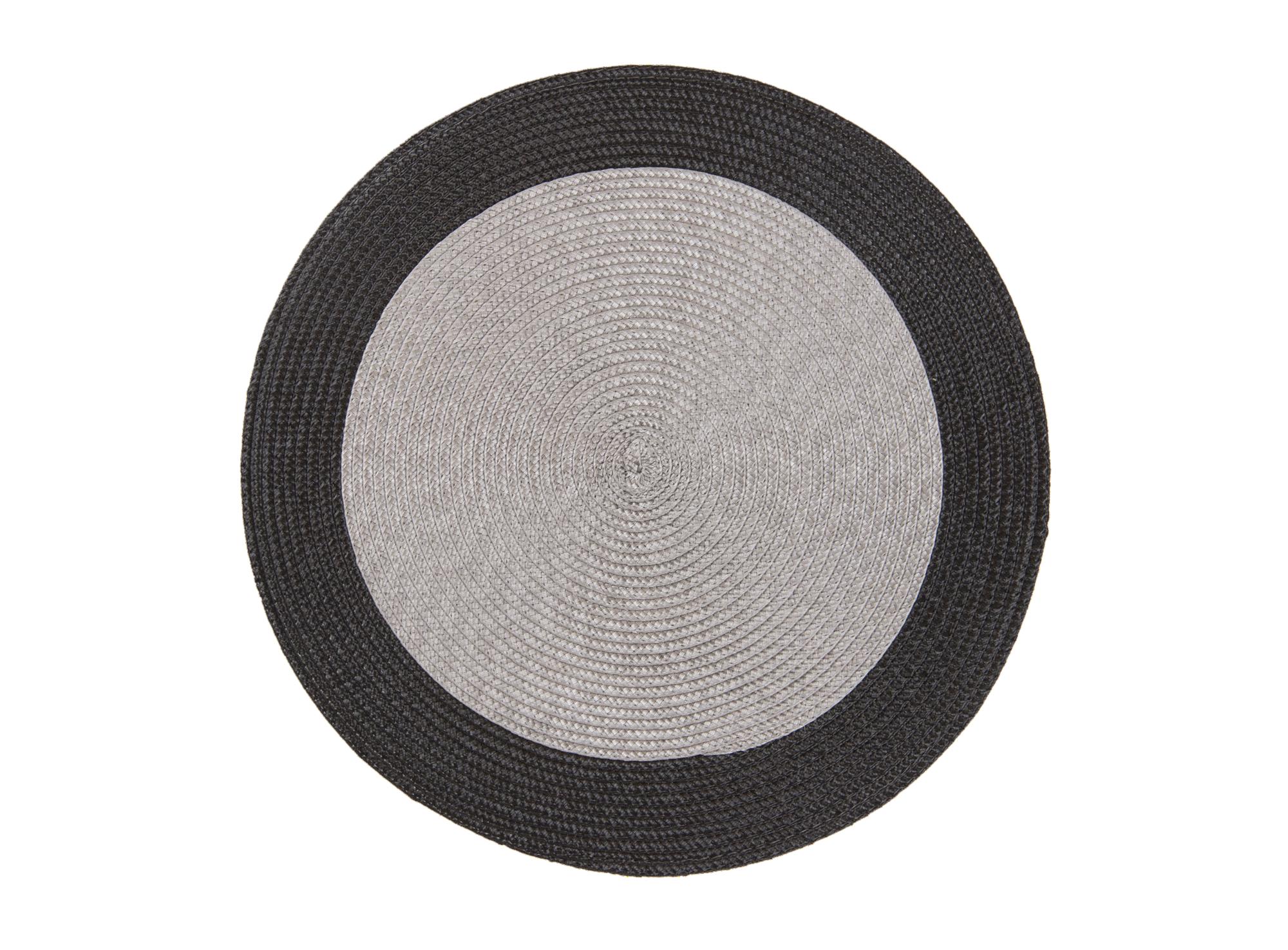Set de table revetu : 100% polypropylene coloris : gris / noir non l ...