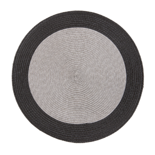 FLY-set de table d35cm gris/noir
