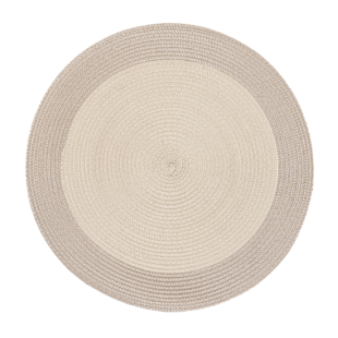 FLY-set de table d35cm taupe/lin