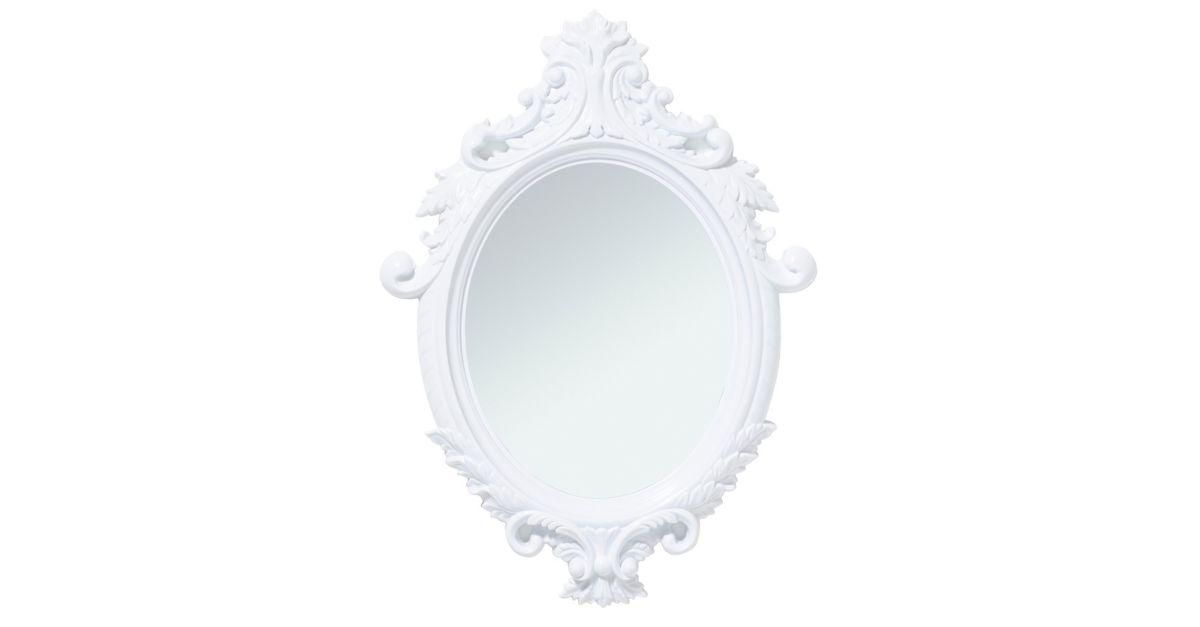 Miroir ovale 55x75 cm blanc fly for Miroir fly