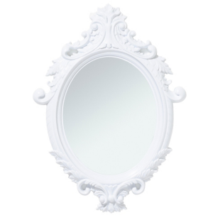 FLY-miroir ovale 55x75 cm blanc