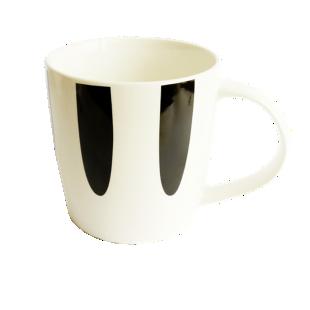 FLY-mug 39cl noir/blanc