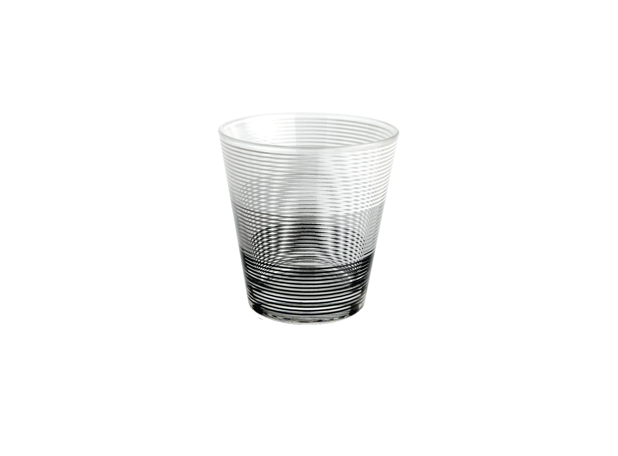 Gobelet contenance 27 cl en verre mecanique decalcomanie. motifs col ...
