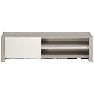 FLY-mtv 1 porte chene gris/blanc