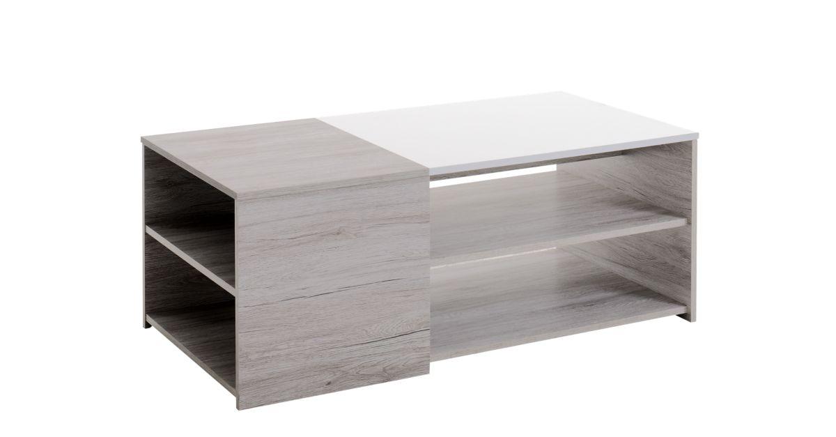 Table basse chene gris blanc table basse d 39 appoint - Meuble d appoint salon ...