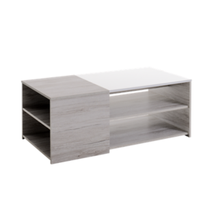 FLY-table basse chene gris/blanc