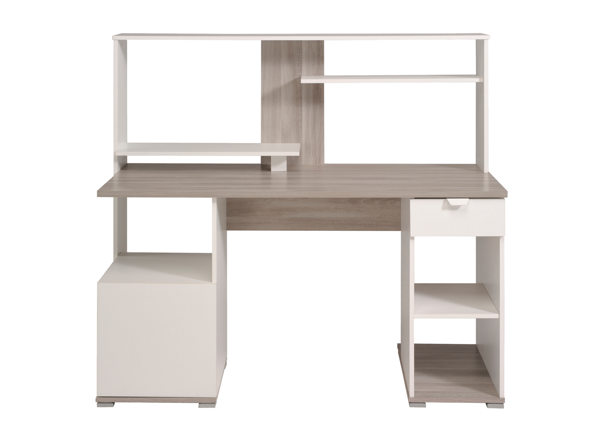 bureau chene gris blanc bureau bureau meuble fly. Black Bedroom Furniture Sets. Home Design Ideas