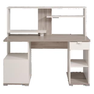 FLY-bureau chene gris/blanc