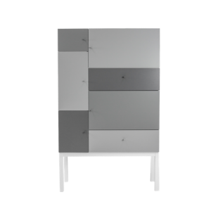 FLY-rangement gris 5 portes