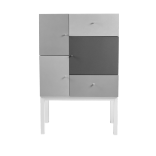 FLY-rangement gris 3 portes