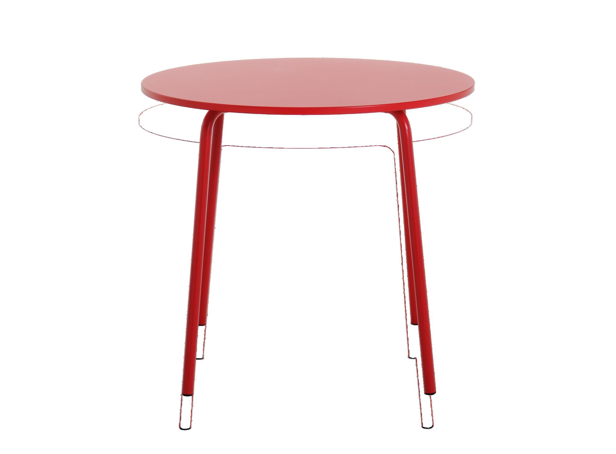 Table ronde laque rouge plateau en panneau de fibres de bois de moyen ...