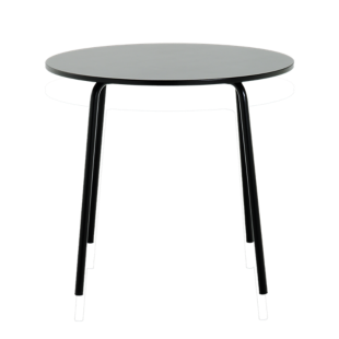 FLY-table ronde d90 laquee noir