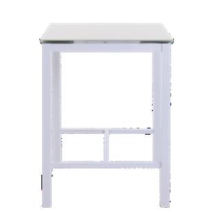 FLY-table extensible l80 a 120 cm blanc/verre gris