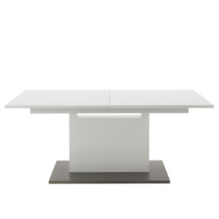 FLY-table extensible l180 a 240 cm blanc brillant