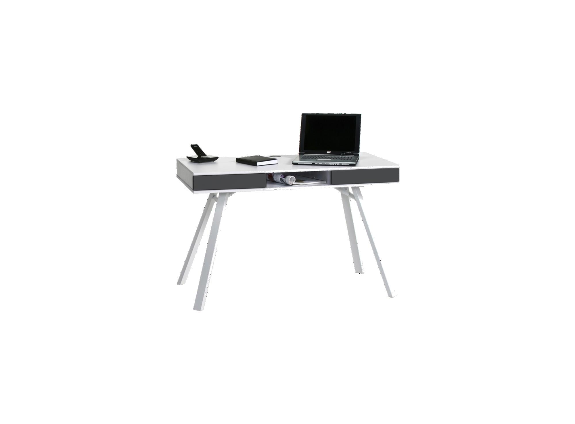 bureau enfant blanc gris fly. Black Bedroom Furniture Sets. Home Design Ideas