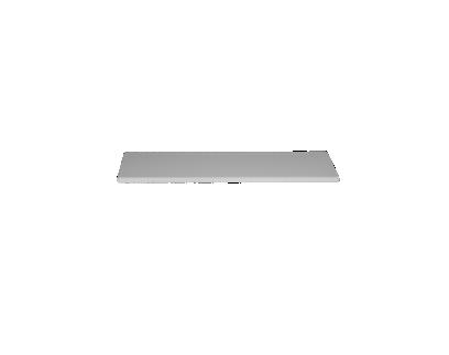 plateau simple l120 cm gris | Fly