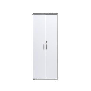 FLY-armoire haute gris/blanc
