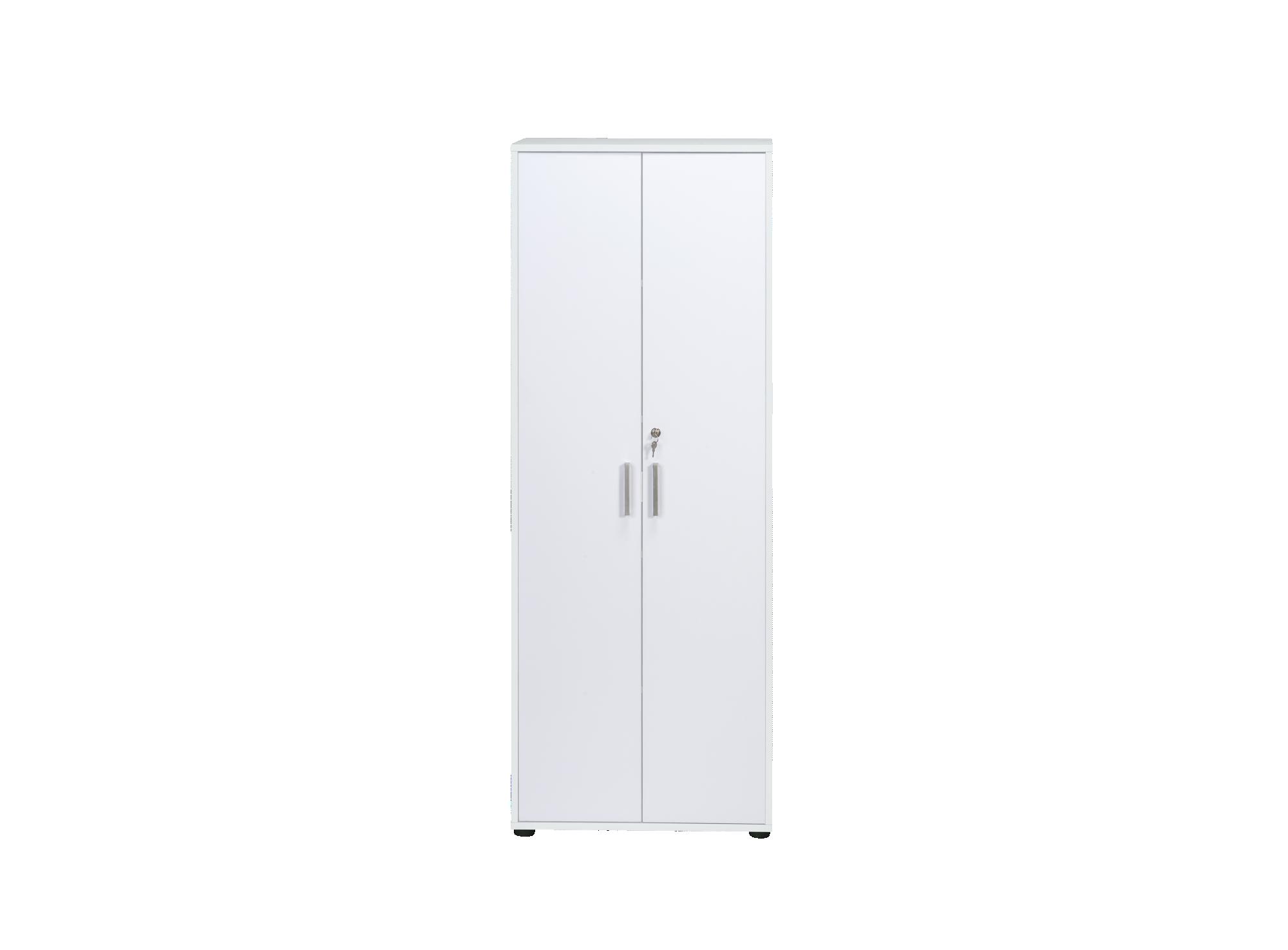 Armoire haute : en panneau de particules melamine coloris blanc. chan ...