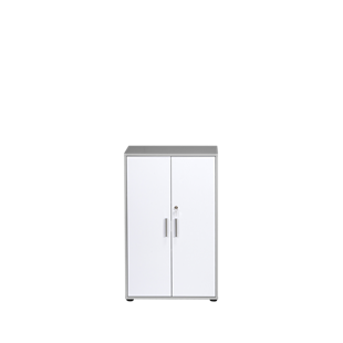 FLY-armoire basse gris/blanc