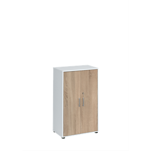 FLY-armoire basse blanc/chene sonoma
