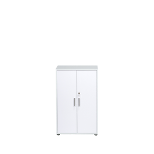 FLY-armoire basse blanc/blanc