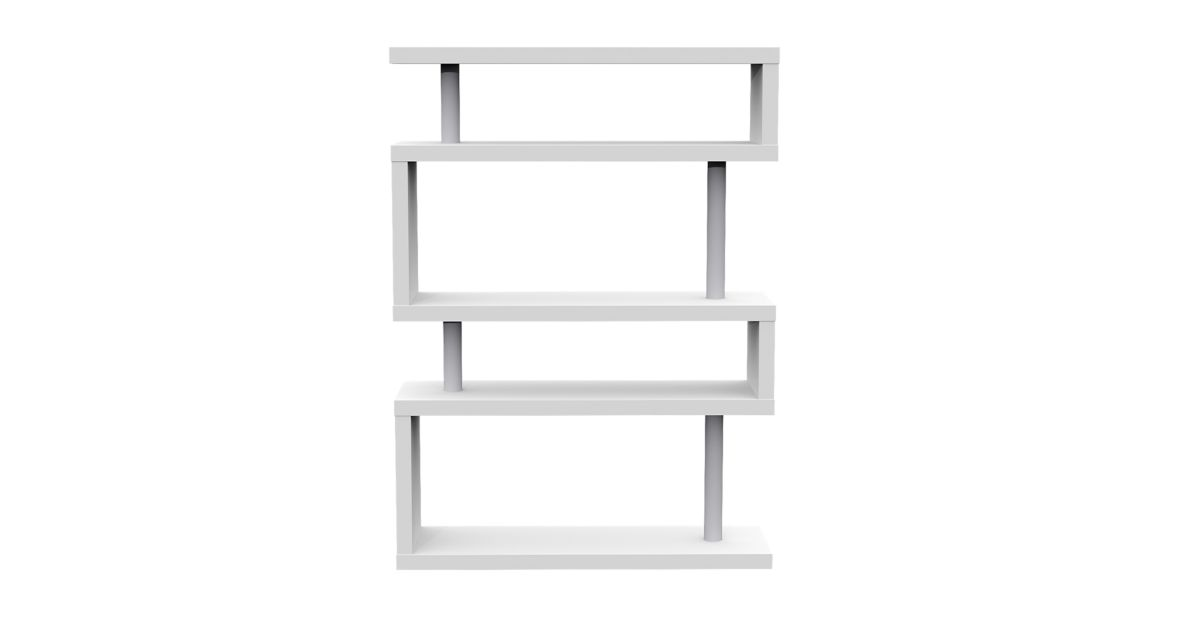 Etagere 5 tablettes laque blanc fly - Etagere bibliotheque fly ...
