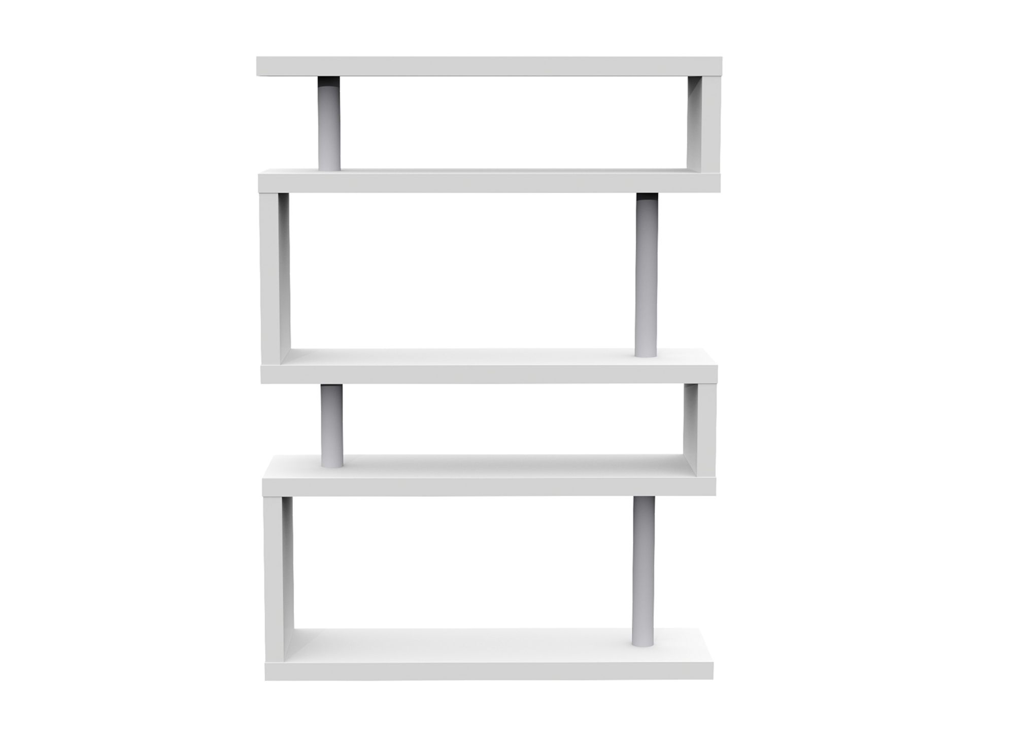 etagere 5 tablettes laque blanc fly. Black Bedroom Furniture Sets. Home Design Ideas