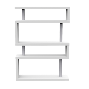 FLY-etagere 5 tablettes laque blanc