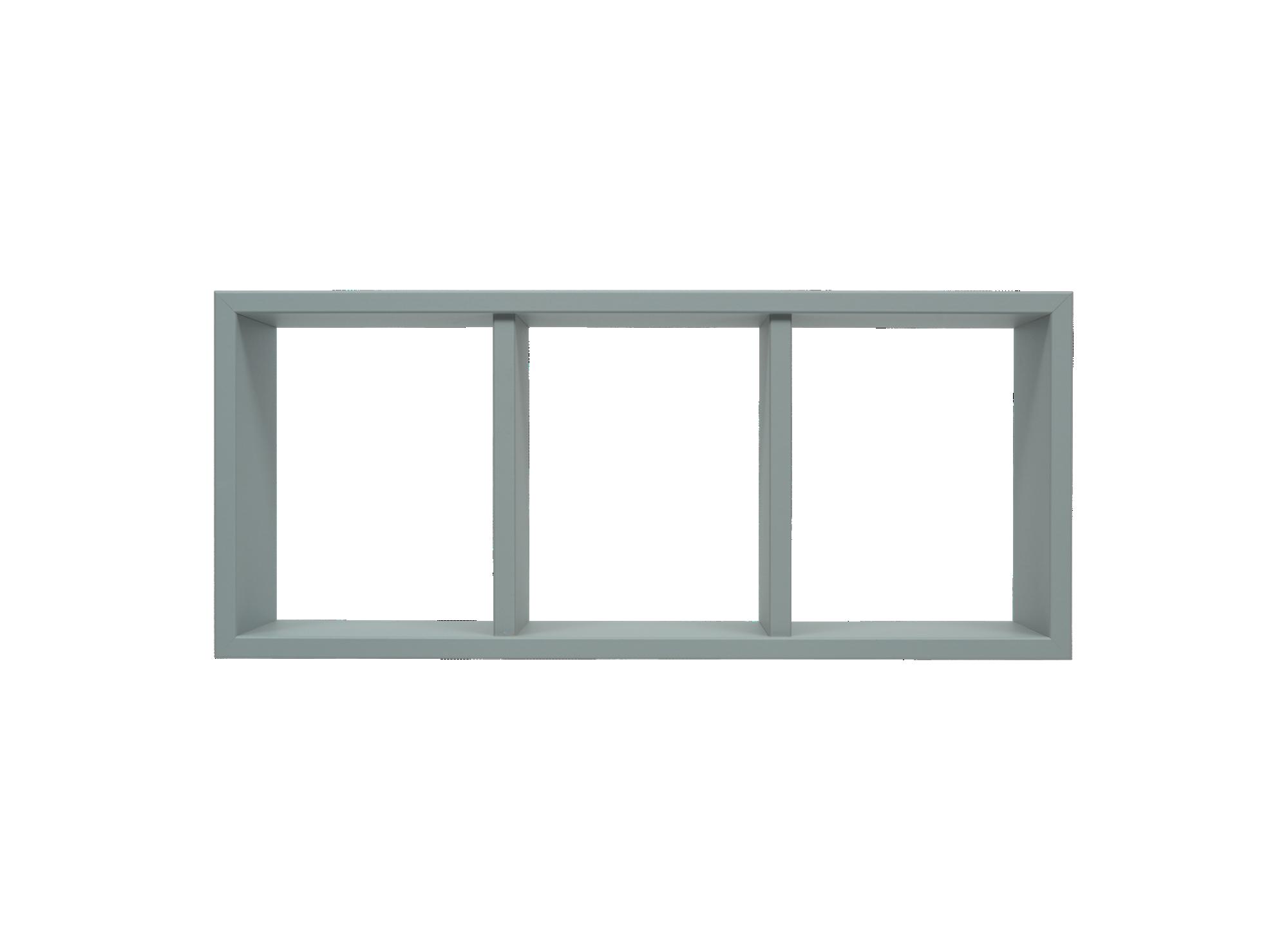 Etagere 3 cases en panneaux de moyenne densite decor polychlorure de ...