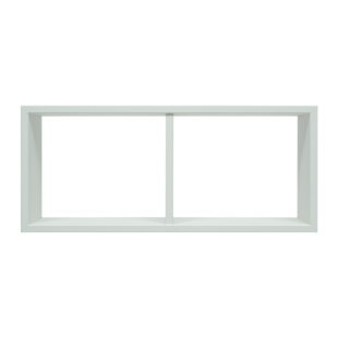FLY-etagere 2 cases blanche